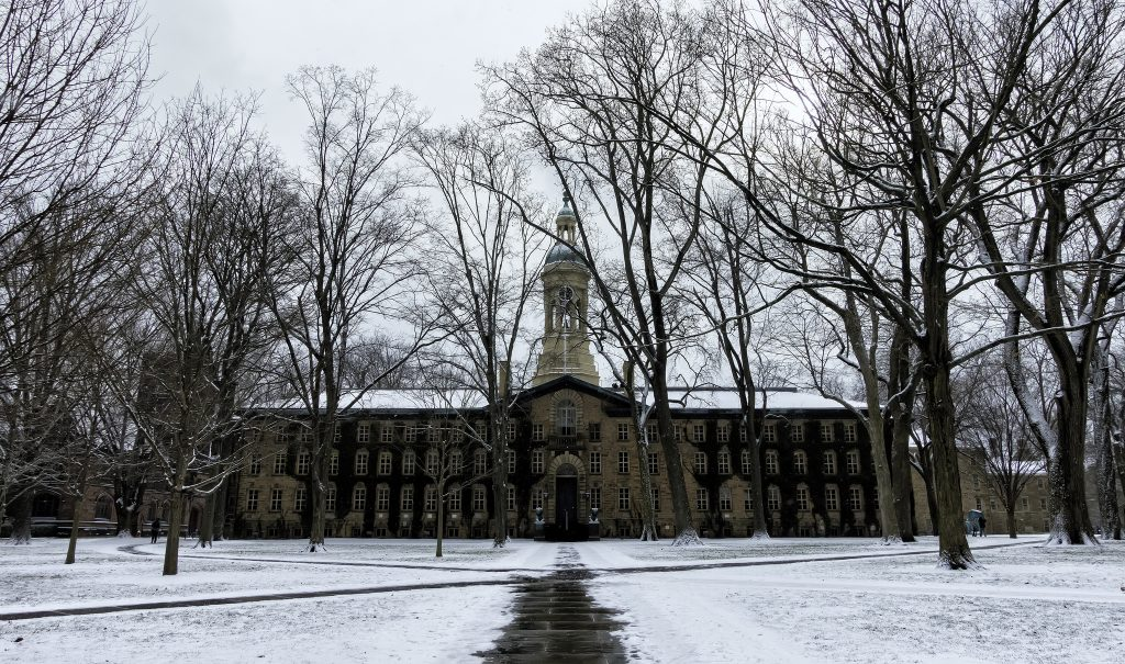 Princeton University campus in wintertime
